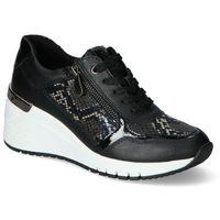 Damskie obuwie sportowe, Sneakersy Marco Tozzi 2-23743-26 Czarne lico