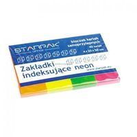 Pozostałe artykuły papiernicze, Zakładki indeksujące neon 4x20x50 mm 244151