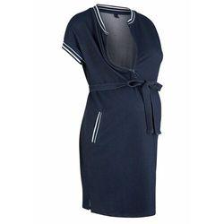 Sukienka ciążowa i do karmienia w optyce dżinsowej bonprix ciemnoniebieski