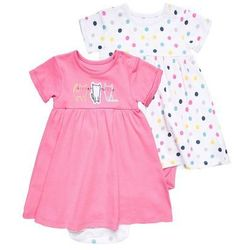 mothercare ROMPER DRESS BABY 2 PACK Sukienka z dżerseju brights multicolor