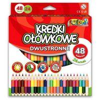 Kredki, Kredki Premium Kolori dwustronne 48 kolor. PENMATE