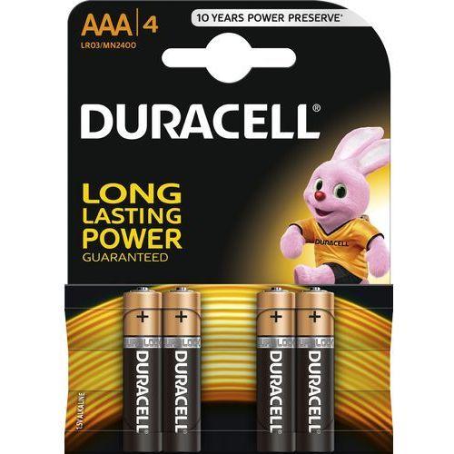 Baterie, Duracell AAA LR03 / MN2400 1.5 V baterie alkaliczne 4 szt