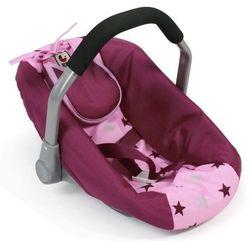 Bayer Chic fotelik samochodowy dla lalki, różowo-bordowe gwiazdy