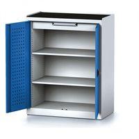 Szafki warsztatowe, Szafa warsztatowa MECHANIC, 1170 x 920 x 500 mm, 2 półki, 1 szuflada, niebieskie drzwi
