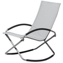 Krzesło ogrodowe szare tekstylne składane CASTO