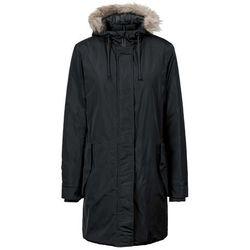 Płaszcz z odpinanym kapturem i sztucznym futerkiem bonprix czarny