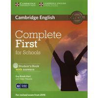 Książki do nauki języka, Complete First for Schools. Podręcznik z Odpowiedziami + CD. (opr. miękka)