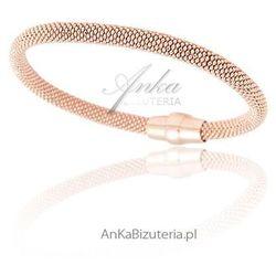 Srebrna bransoletka damska. Biżuteria srebrna pozłacana -różowym złotem