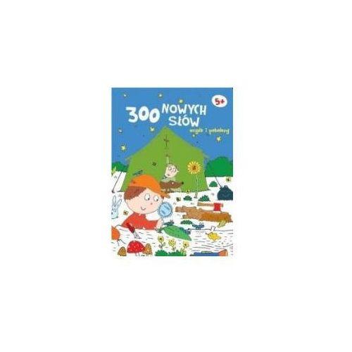 Kreatywne dla dzieci, 300 nowych słów znajdź i pokoloruj 5+ - granatowa