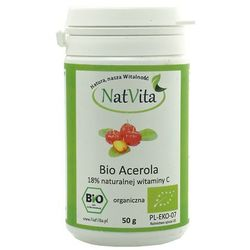 Bio Acerola 18% Witaminy C z wiśni aceroli 50g NatVita