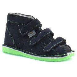Dziecięce buty profilaktyczne Danielki TX105/115 Granat Fluoz - Zielony   Granatowy