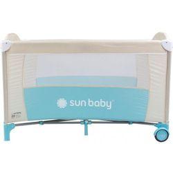 Łóżeczko jednopoziomowe Sweet Dreams turkusowe Sun Baby SD707/ST