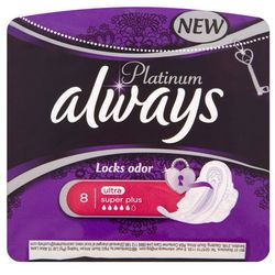 Always Platinum Lock odor Ultra Super Plus Podpaski higieniczne 8 sztuk