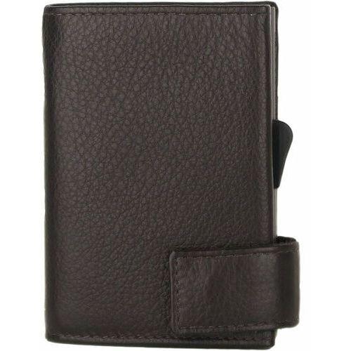 Etui i pokrowce, SecWal SecWal 2 Kreditkartenetui Geldbörse RFID Leder 9 cm dunkelbraun ZAPISZ SIĘ DO NASZEGO NEWSLETTERA, A OTRZYMASZ VOUCHER Z 15% ZNIŻKĄ