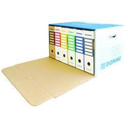 Pudło archiwizacyjne wzmocnione DONAU, karton, zbiorcze, przednie, niebieskie