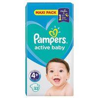 Pieluchy jednorazowe, Pampers Active Baby Rozmiar 4+, 53 pieluszki, 10-15 kg