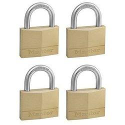 150EURQNOP Zestaw czterech kłódek otwieranych jednym kluczem Master Lock