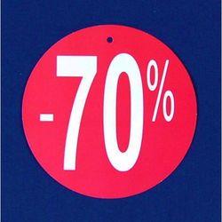 Komplet (100szt.) metek,,-70%'' do metkownicy igłowej