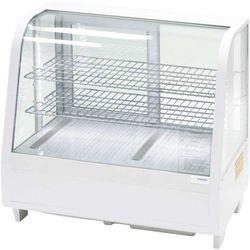 Witrynka ekspozycyjna chłodnicza 100 l LED biała STALGAST 852103