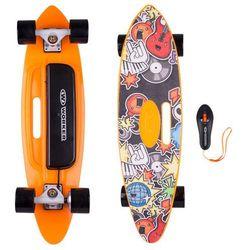 Deskorolka elektryczna longboard Smuthrider Worker - czarno - pomarańczowy