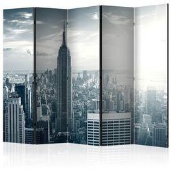Parawan 5-częściowy - Widok na nowojorski Manhattan o świcie II [Room Dividers]