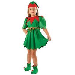 Kostium Elf Zielony sukienka - S - 110/116 cm