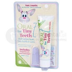 ORAL7 Tiny Teeth - żel pielęgnacyjny, żel na ząbkowanie + silikonowa szczoteczka - 48ml