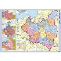 Mapy i atlasy turystyczne, Polska mapa ścienna fizyczno-administracyjna i konturowa 1:1 500 000 (opr. miękka)