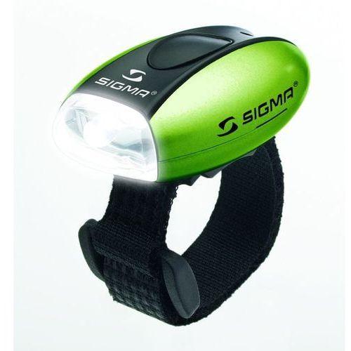 Oświetlenie rowerowe, Przednia diodowa lampa rowerowa Sigma Micro (zielona)