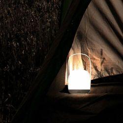 Baseus Moon bezprzewodowa lampa lampka nocna LED latarka 3 barwy białego światła biały (DGYB-A02)