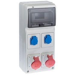 Rozdzielnica elektryczna bez wyposażenia RS 1 / 8 6242 - 00 / 2 X 2P + Z 2 X 3P + N + Z 32A ELEKTRO-PLAST
