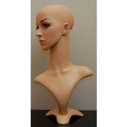 Manekin plastikowy - popiersie damskie z głową kolor cielisty