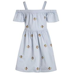 New Look 915 Generation EMBROIDERED BARDOT DRESS Sukienka letnia light blue