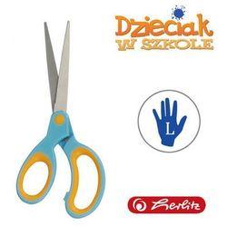Nożyczki szpiczaste błękitno-poma L 17,5cm Herlitz - błękitno-pomarańczowe