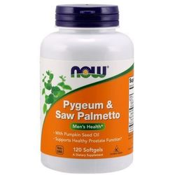 Now Foods Pygeum & Saw Palmetto 120 kaps.