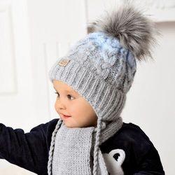 Komplet ajs 40-434 czapka+szalik rozmiar: 44-48cm, kolor: wielokolorowy, ajs
