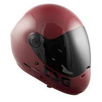 Ochraniacze na ciało, kask TSG - pass solid color (+ bonus visor) gloss oxblood (262) rozmiar: XL