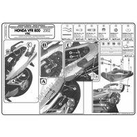 Stelaże motocyklowe, Stelaż pod kufer centralny do Honda VFR800VTEC [02-11] - Givi 166FZ (zgodny z Kappa KZ166)