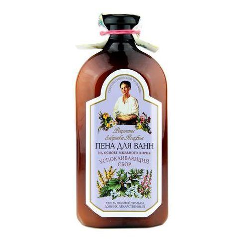 Płyny i emulsje do kąpieli, Płyn do kąpieli ziołowy z mydlnicą lekarską - relaksujący, 500 ml - RECEPTURA BABCI AGAFII