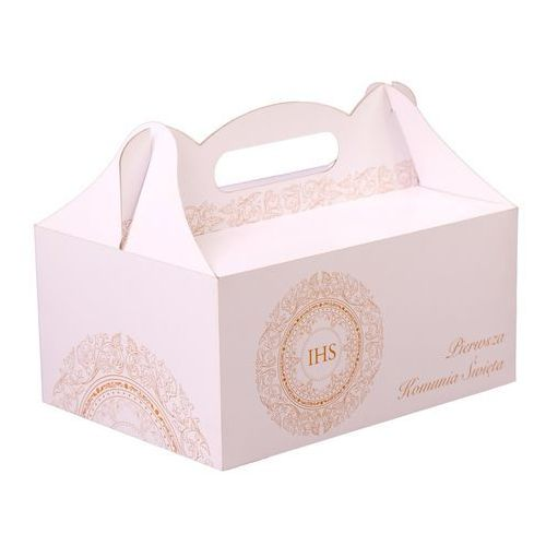 Ozdobne pudełka, Ozdobne pudełko na ciasto komunijne - 1 szt.