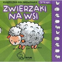 Książki dla dzieci, Książeczka kolowanka zwierzaki na wsi (opr. kartonowa)