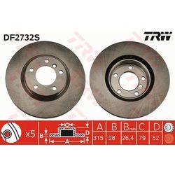 TARCZA HAM TRW DF2732S BMW E36 M3 3.0 94-95, 3.2 95-98, Z3 M 3.2 01-03 PRZÓD PRAWY