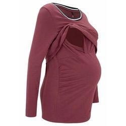 Shirt ciążowy i do karmienia piersią z bawełny organicznej bonprix czerwony klonowy