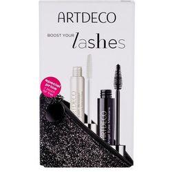 Artdeco Angel Eyes zestaw Tusz do rzęs 10 ml + Baza pod tusz Lash Booster 10 ml + Kosmetyczka dla kobiet 1 Black