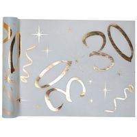 Bieżniki, Dekoracja bieżnik na stół z nadrukiem na 30 urodziny - 30 cm - 1 szt.