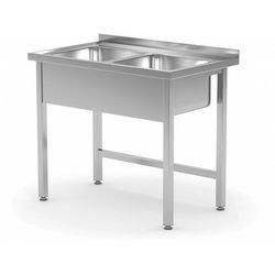 Stół z dwoma zlewami bez półki   komora 400x400x(H)250mm   1000x600x(H)850mm