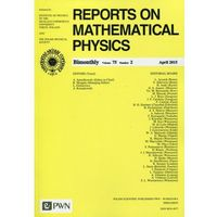 Gazety i czasopisma, Reports on Mathematical Physics 75/2 2015 Kraj (opr. miękka)