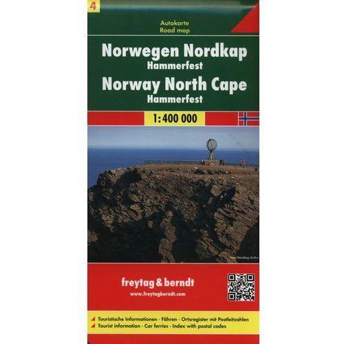 Mapy i atlasy turystyczne, Norwegia. Część 4 - Nordkapp HAMMERFEST. Mapa 1:400 000 (opr. twarda)
