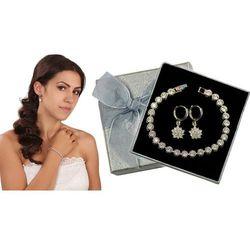 Kpl870 komplet ślubny, biżuteria ślubna z cyrkoniami k599/520 b599/543