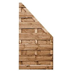 Płot skośny 90x180 cm drewniany olcha NEVADA WERTH-HOLZ